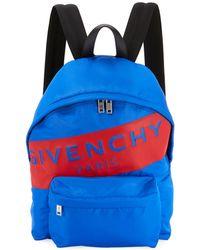 2ac6596b69f0 Givenchy - Men s Urban Logo Nylon Zip-around Backpack - Lyst
