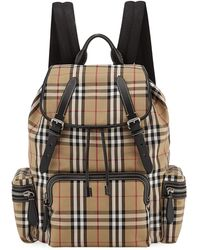440519d65bf5 Burberry - Men s Rucksack Signature Check Backpack - Lyst
