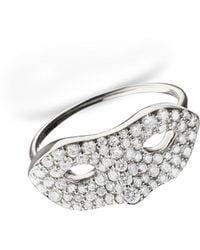 Monica Rich Kosann   18k White Gold Mask Ring   Lyst