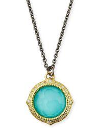 Armenta - Old World Turquoise/quartz Pendant Necklace W/ Diamonds & 18k Gold - Lyst