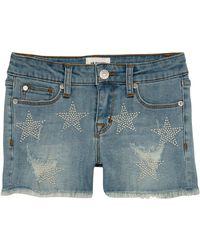 Hudson Jeans - Celestina Distressed Studded Star Shorts - Lyst