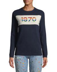 Bella Freud - 1970 Rainbow Graphic Cashmere Sweater - Lyst