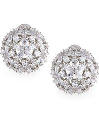 Fallon - Monarch Florette Crystal Button Earrings - Lyst