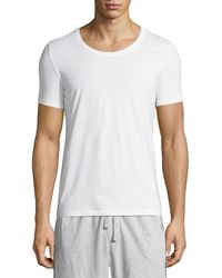 Hanro - Cotton Superior Short-sleeve Crewneck Tee - Lyst