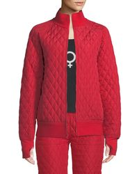 Norma Kamali - Quilted Stand-collar Bomber Jacket - Lyst