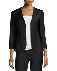 Theory - Lindrayia B Continuous Open-front 3/4-sleeve Blazer - Lyst