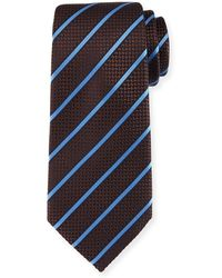 Ermenegildo Zegna - Chevron Striped Silk Tie - Lyst