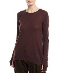 Urban Zen - Crewneck Long-sleeve Cashmere Pullover Sweater - Lyst