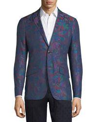 Etro - Floral-print Cotton Sport Coat - Lyst