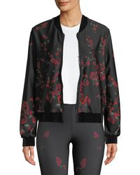 Ultracor - Stealth Floral Zip-front Bomber Jacket - Lyst