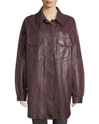 A.L.C. - Mercier Button-front Long-sleeve Leather Jacket - Lyst