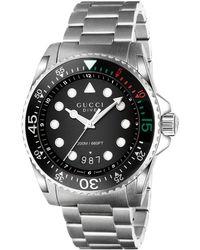e3d49ba9de3 Lyst - Gucci Unisex Swiss Dive Stainless Steel Bracelet Watch 40mm ...