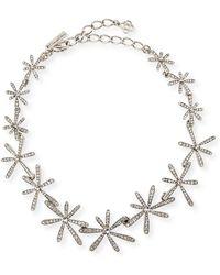 Oscar de la Renta - Daisy Crystal Collar Necklace - Lyst