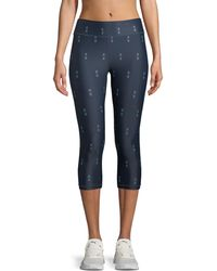 The Upside - Feather Nyc 3/4 Printed Leggings - Lyst