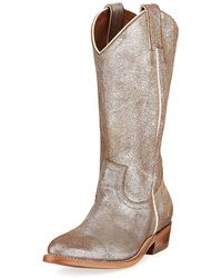 Frye - Billy Metallic Western Boots - Lyst