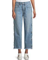 Jonathan Simkhai - Manfriend Button-down Wide-leg Jeans - Lyst