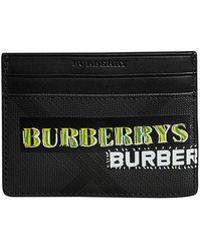 Burberry - Men's Sandon Graphic Logo Faux-leather Card Case - Lyst