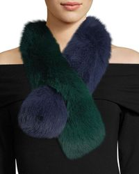Charlotte Simone - Polly Pop Two-tone Fur Pull-through Scarf - Lyst