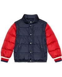Gucci - Quilted Vintage Logo Puffer Jacket W/ Zip-off Sleeves - Lyst