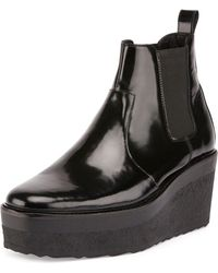 Pierre Hardy | Jodhpur Polished Leather Platform Boot | Lyst