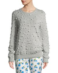Michael Kors - Crewneck Pearlescent-embellished Cashmere Sweater - Lyst