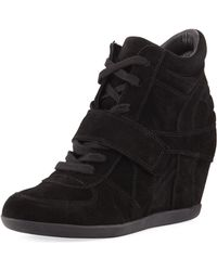 Ash - Bowie Lace-up Suede Sneaker Booties - Lyst