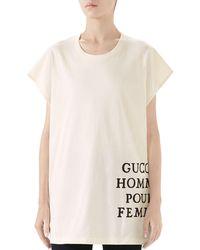 Gucci - Homme Pour Femme T-shirt - Lyst