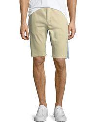Balenciaga - Chino Denim Raw-edge Shorts - Lyst