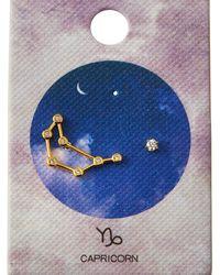 Tai Zodiac Constellation & Cubic Zirconia Stud Earrings