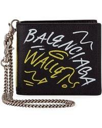 Balenciaga - Men's Explorer Square Coin Wallet - 75007 Paris Graffiti - Lyst
