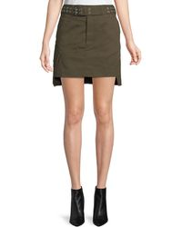 Helmut Lang - Belted Military Patch Mini Skirt - Lyst