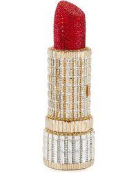 Judith Leiber - Seductress Crystal Lipstick Clutch Bag - Lyst