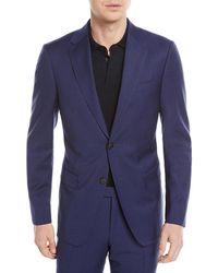 Z Zegna - Tonal Plaid Wool Two-piece Suit - Lyst