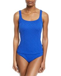 Gottex - Jazz Scoop-neck Tankini Swim Top - Lyst
