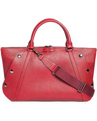 Akris - Aimee Small Bicolor Leather Satchel Bag - Lyst