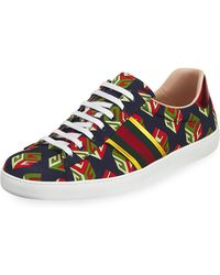 Gucci - New Ace Gg Wallpaper Sneaker - Lyst