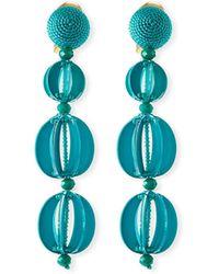 Oscar de la Renta - Spliced Globe Statement Clip-on Earrings - Lyst