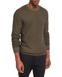 Ermenegildo Zegna - Waffle-knit Crewneck Sweater - Lyst