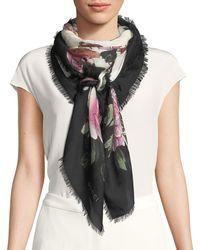 Gucci - Rising Flower Modal-silk Shawl - Lyst