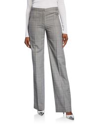 Narciso Rodriguez Plaid Straight-leg Pants - Gray