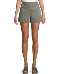 Theory - Casual Twill Cargo Shorts - Lyst