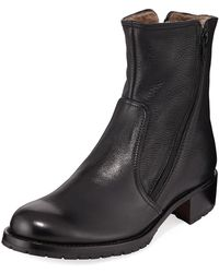 Gravati - Two Zipper Leather Booties - Lyst