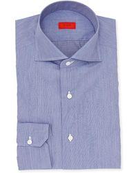 Isaia - Chambray Cotton Dress Shirt - Lyst