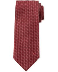 Ferragamo - Dashed Silk Tie - Lyst