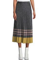 10 Crosby Derek Lam - Pleated Metallic Knit Skirt - Lyst