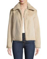 Theory - Luxe Faux-fur Portrait-neck Jacket - Lyst