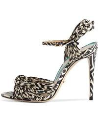 873f839fb48 Gucci - Allie Striped Leather Sandals - Lyst