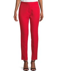 MILLY - Stretch Crepe Cigarette Pants - Lyst