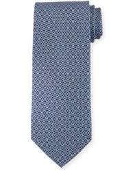 Ferragamo - Linked-gancini Pattern Silk Tie - Lyst
