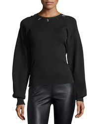 Thierry Mugler - Embellished Full-sleeve Sweater - Lyst